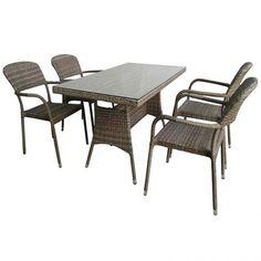Lilly set Τραπεζαρία παραλληλόγραμμη wicker 150x90cm με 4 πολυθρόνες Outdoor Furniture Sets, Outdoor Decor, Wicker, Table, Home Decor, Decoration Home, Room Decor, Tables, Home Interior Design
