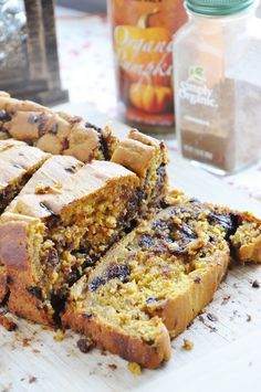 Pumpkin Chocolate Chip Bread (100% whole wheat + healthier) - Honey, Whats Cooking