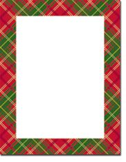 Masterpiece Studios Imprintable Blank Stock - Country Plaid Letterhead (20103017-20102237)