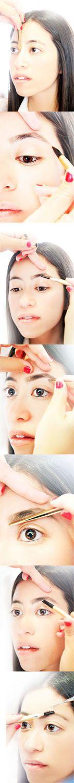 Brow guru #SaniaVucetaj reveals tips and tricks for a perfect shape #eyebrows