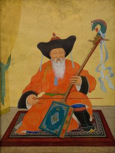 adamthenorman: Mongol zurag- a traditional style of Mongolian painting.