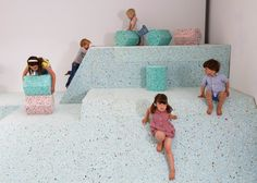Assemble's Brutalist Playground is a climbable landscape of ice-cream-coloured shapes.