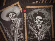 Playing Cards-Midnight Calaveras Playing Cards