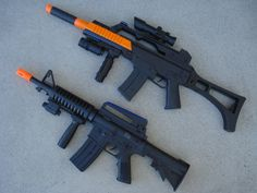 """Light Up Combat  Toy Machine Rifle Battery Operated with Military Sound 23/"""" Long"""