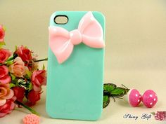 iPhone 4 case iPhone 4s case  cute bow iPhone 4 case by ShinyGift, $15.99