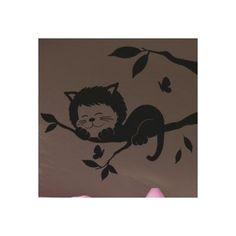 "Style and Apply Sleeping Cat Wall Decal Size: 39"" H x 46"" W, Color: Royal Blue"