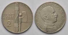 2 Lire Fascio 1925