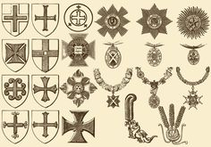 Vintage Crosses And Medals