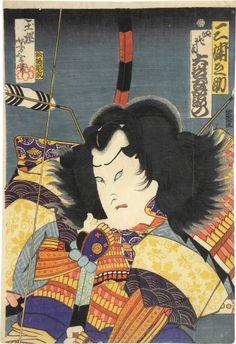 Tsukioka Yoshitoshi (1839-1892): Actor Otani Tomoemon IV as Miuranosuke, woodblock print, 1865.