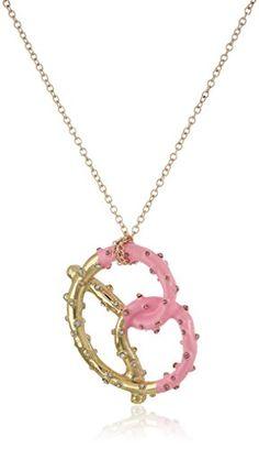 Betsey Johnson Sweet Shop Pretzel Long Pendant Necklace * Click image to review more details.