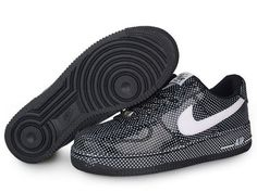 low priced b37dc bbb80 Chaussures Nike Air Force One Blanc  Noir -   Nike Chaussure Pas Cher,Nike  Blazer and Timerland