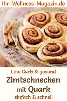 Low carb cinnamon buns with curd cheese – healthy recipe for breakfast - Low Carb Rezepte Breakfast Low Carb, Healthy Breakfast For Weight Loss, Healthy Breakfast Recipes, Healthy Recipes, Low Carb Desserts, Healthy Desserts, Low Carb Recipes, Dessert Recipes, Low Carb Cakes
