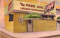 """Vintage postcard from the Park Avenue Lounge and Restaurant, once known as """"Memphis' Finest Restaurant!"""" #Memphis"""