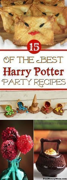 Harry Potter Recipes - These Harry Potter foods are perfect for. Harry Potter Recipes - These Harry Potter foods are perfect for a kids birthday party. Any Harry Potter party needs Butterbeer and chocolate frogs right? Baby Harry Potter, Baby Shower Harry Potter, Natal Do Harry Potter, Harry Potter Navidad, Harry Potter Motto Party, Gateau Harry Potter, Harry Potter Fiesta, Harry Potter Weihnachten, Harry Potter Thema