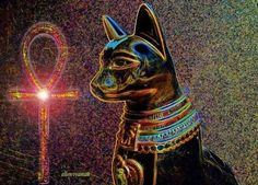 ✣ Bastet ✣ Bastet is the name commonly used by scholars today to refer to a… Bastet Goddess, Egyptian Goddess, Ancient Egyptian Religion, Mother Goddess, Deities, Cat Art, Cat Lovers, Art Pieces, Lion Sculpture