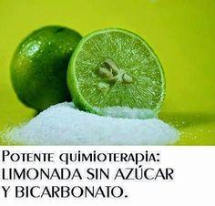 TOMAR LIMONADA CON UNA CUCHARADITA DE BICARBONATO TODOS LOS DÍAS El Limón es un producto milagroso para matar las células cancerosas. Es 10....