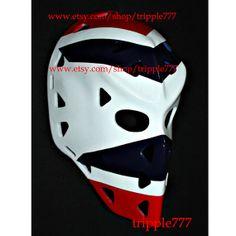 Hockey mask, Hockey goalie, NHL ice hockey, Roller Hockey, Hockey goalie mask, Hockey helmet Winnipeg Ed Staniowski mask HO84