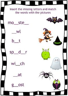 halloween worksheet for esl httpenglish4kids step by - Esl Halloween Games