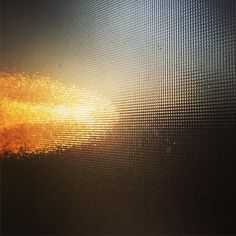 #Sunrise through glass.