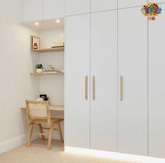Built In Cupboards Bedroom, Bedroom Built In Wardrobe, Small Room Bedroom, Home Decor Bedroom, Small Bedroom Inspiration, Scandinavian Interior Bedroom, Closet Layout, Build A Closet, Closet Designs