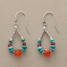great colors and mix of stones for earrings