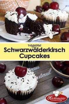 Diesen Cupcakes schmecken nicht nur genau so gut wie eine Schwarzwälderkirschtorte, sie sind auch noch zu 100% vegan!