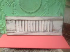 Shabby Chic Vintage Ivory Distressed Shutter by SouthernSupply
