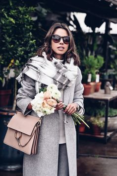Casual outfit = gray, pink and beige