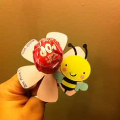 Valentine flower...Bee Mine! Found this idea on Pinterest. I just added the bee. Done on my Cricut.