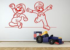 Amazon.com : Wall Room Decor Art Vinyl Decal Sticker Mural Famous Popular Video Game Characters heroes Poster Kids Bedroom Nursery Boy Girl AS339 : Baby