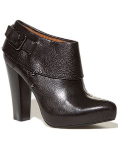 calvin klein leather bootie