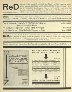 ReD. Ročník I/7. [Inside of the front cover]
