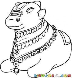 Vaca Sagrada De La India Para Pintar Y Colorear