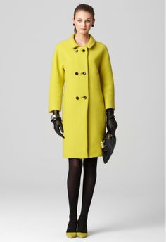ALEXIS COAT by Milly | yellow coat | pea coat | winter coat | fall coat | wool coat