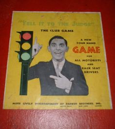 Vintage #1930's #eddie cantor #'tell it to the judge' game board only - parker br,  View more on the LINK: http://www.zeppy.io/product/gb/2/232136493672/
