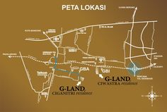 Peta Lokasi G Land Ciganitri Residence dan G Land Ciwastra Residence from GAN GROUP
