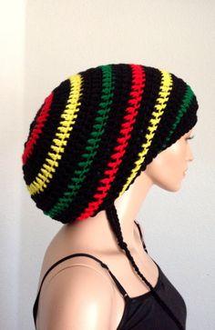 a4d4a15eb2d Unisex Crochet Rasta Tam  Unisex Dreadlocks Hat  by Africancrab