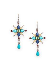 Rococo Cross Earrings - JewelMint