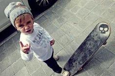 Little skater kid