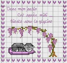 Dans mon jardin cet après midi ... Sieste sous la glycine (In my garden this afternoon ... nap under the wisteria) - Les chroniques de Frimousse