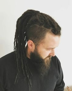 Dreadlock Hairstyles For Men, Dreadlock Styles, Undercut Hairstyles, Dreadlock Extensions, Black Hairstyles, Wedding Hairstyles, Camila Sanchez, Viking Haircut, Hair And Beard Styles