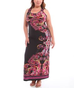 Another great find on #zulily! Burgundy Paisley Racerback Maxi Dress - Plus by BOLD & BEAUTIFUL #zulilyfinds
