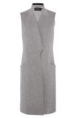 Sleeveless wool coat | Luxury Women's outerwear | Karen Millen