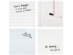 note-making whiteboards :)