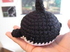 Baby Orca Killer Whale - Premade Crochet Amigurumi Doll by AwkwardSoul on Etsy https://www.etsy.com/listing/86646287/baby-orca-killer-whale-premade-crochet