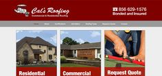 Cal's Roofing Responsive Website - Raven Media, Website Design, Print Design, and Photography Residential Roofing, Web Design Projects, Raven, Print Design, Website, Photography, Crows, Print Layout, Photograph