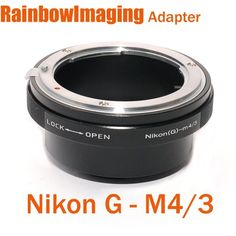 RAINBOWIMAGING Nikon G AF-S Lens to Micro 4/3 Four Thirds System Camera Mount Adapter, with aperture control ring, for Olympus PEN E-P1 E-P2 E-PL1, Panasonic Lumix DMC-GF1, GH1, G1, G2 G10, (RainbowIm