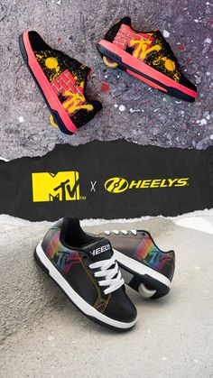 The nostalgia is real... check out Heelys collab with MTV now! Rolling back into the 90s just got easier. Shoe Releases, Mtv, Nostalgia, Flip Flops, Sandals, Check, Clothes, Collection, Shoes