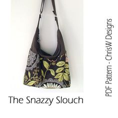INSTANT DOWNLOAD  Slouch Handbag PDF Sewing par ChrisWDesigns, $9.95