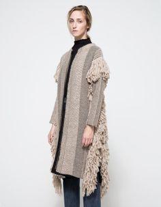 Rachel Comey Fringe Sweater Coat